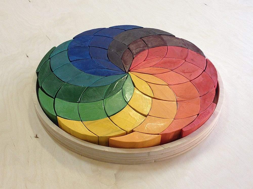 Игра «Спираль в круге» Деревянный пазл