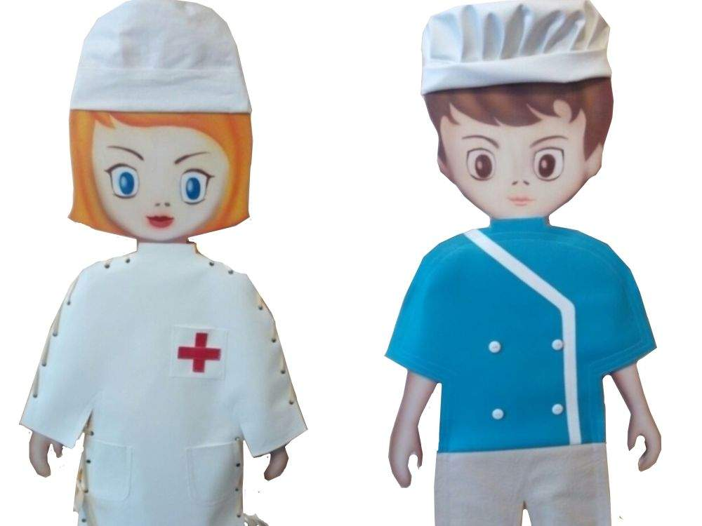 Плоскостные игрушки «Мальчик и девочка»