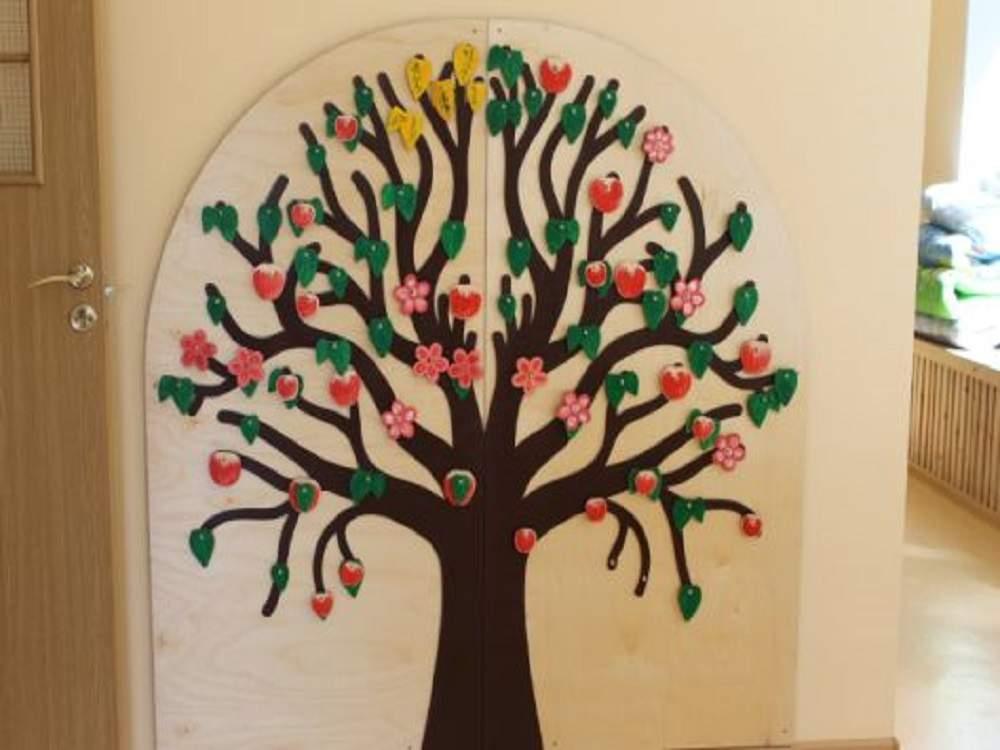 Настенное  панно дерево «Времена года»
