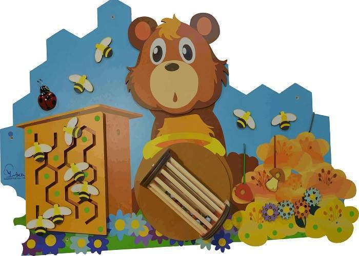 Бизиборд «Мишка»