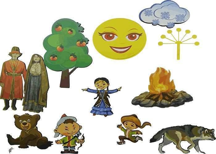 Комплект «Башкирские сказки» магнитные (более 70 элементов)