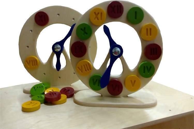 Часы с латинскими цифрами на магнитах